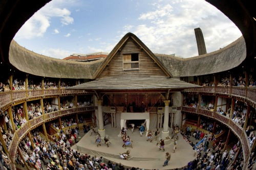 Shakespeare's Globe Theater. Photo Credit: Rex Features