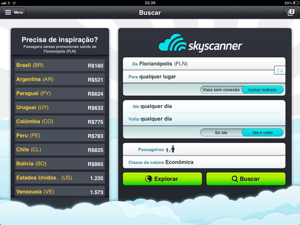 Skyscanner Ipad