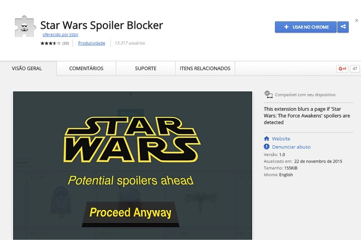 Star Wars Spoiler Blocker