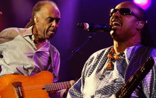 Stevie Wonder e Gilberto Gil