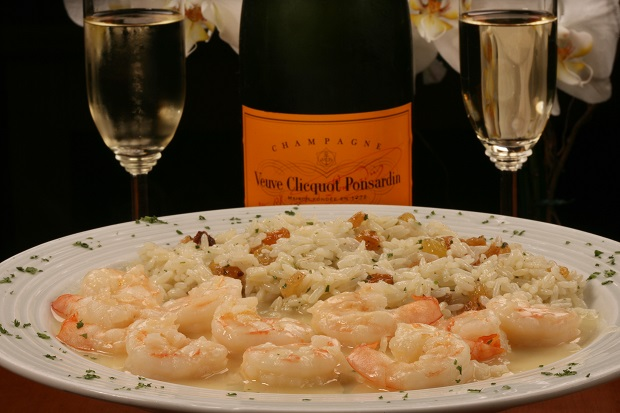 Tizziano-Gamberi al Champagne