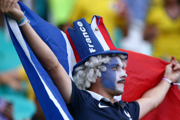 Torcedor francês. Foto: Getty Images
