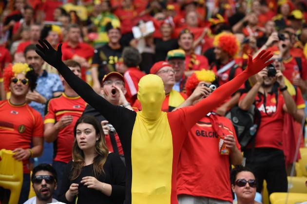 Torcedores da Bélgica. Foto: Getty Images