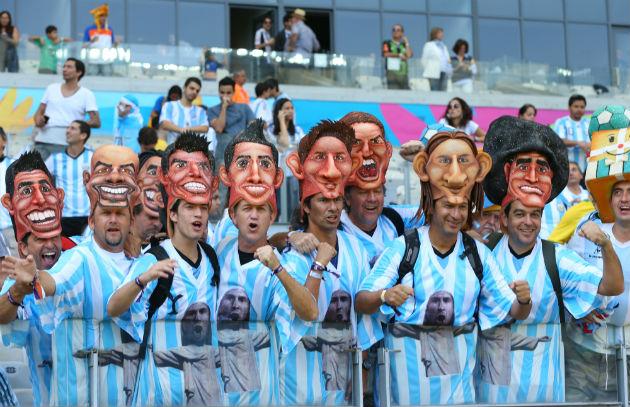 Torcida da Argentina. Foto: Getty Images