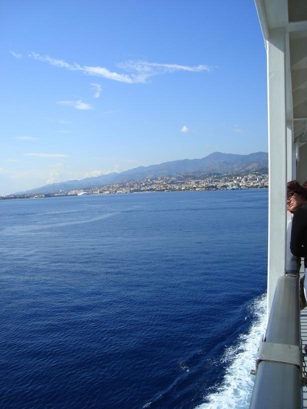Travessia de barco para a Sicília