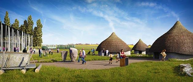 Uma galeria ao ar livre com um grupo de casas neolíticas com móveis e acessórios vai abrir na Páscoa de 2014