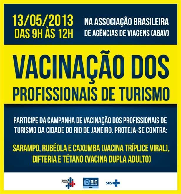 Vacinação dos profissionais do turismo