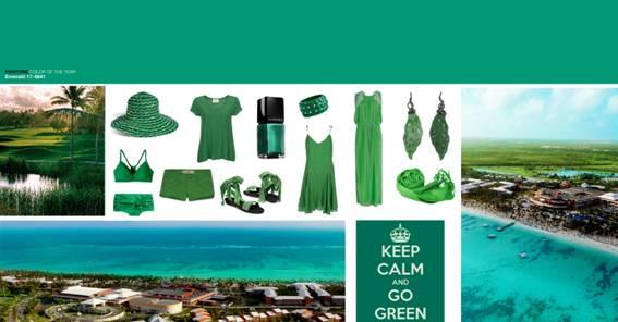 Verde esmeralda é a cor de Punta Cana