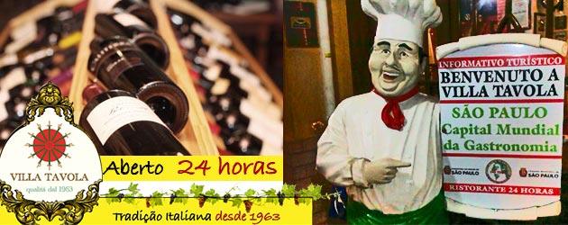 Villa Tavola - Aberto 24 horas