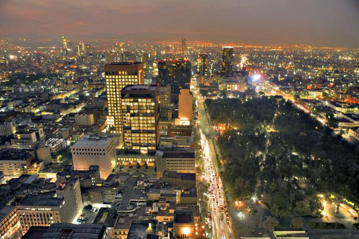 Vista noturna - Cidade do México