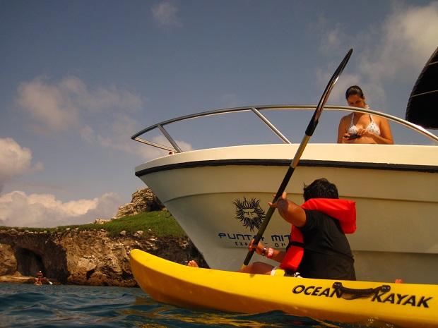 caiaque na Ilhas Marietas