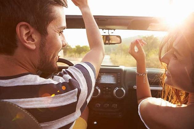 carro, passeio, amigos