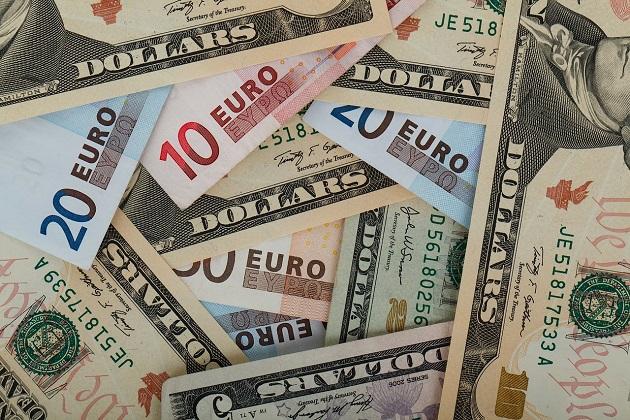 dólar euro moeda dinheiro