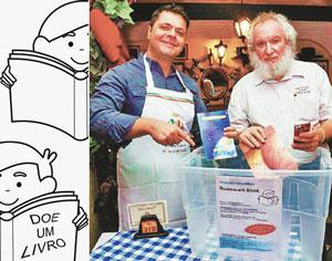 Fábio Lellis, sócio da Cantina Lellis e José Luiz Goldfarb Responsável pela divulgação da campanha. (Foto: Cristina Novinsky)