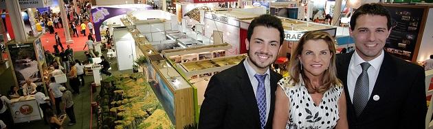 Marcos Rossi, Marta Rossi e Eduardo Zorzanello, os organizadores do Festuris
