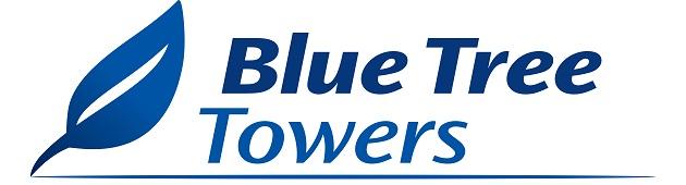 logo blue tree