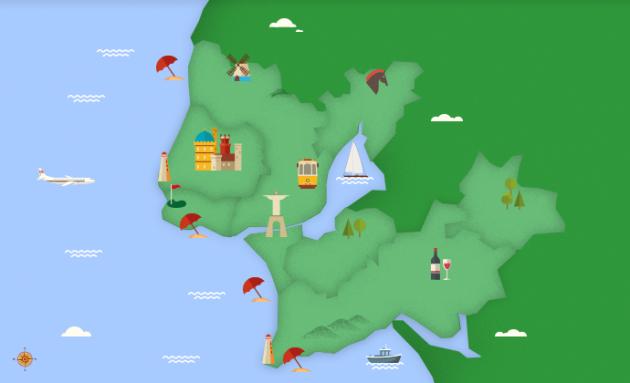 map-color Lisbon