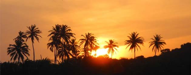 pôr do sol no Ceará