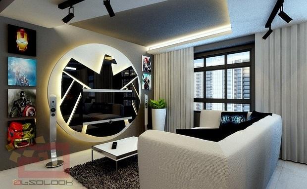 sala de estar Vingadores