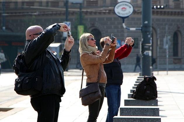 turistas fotos